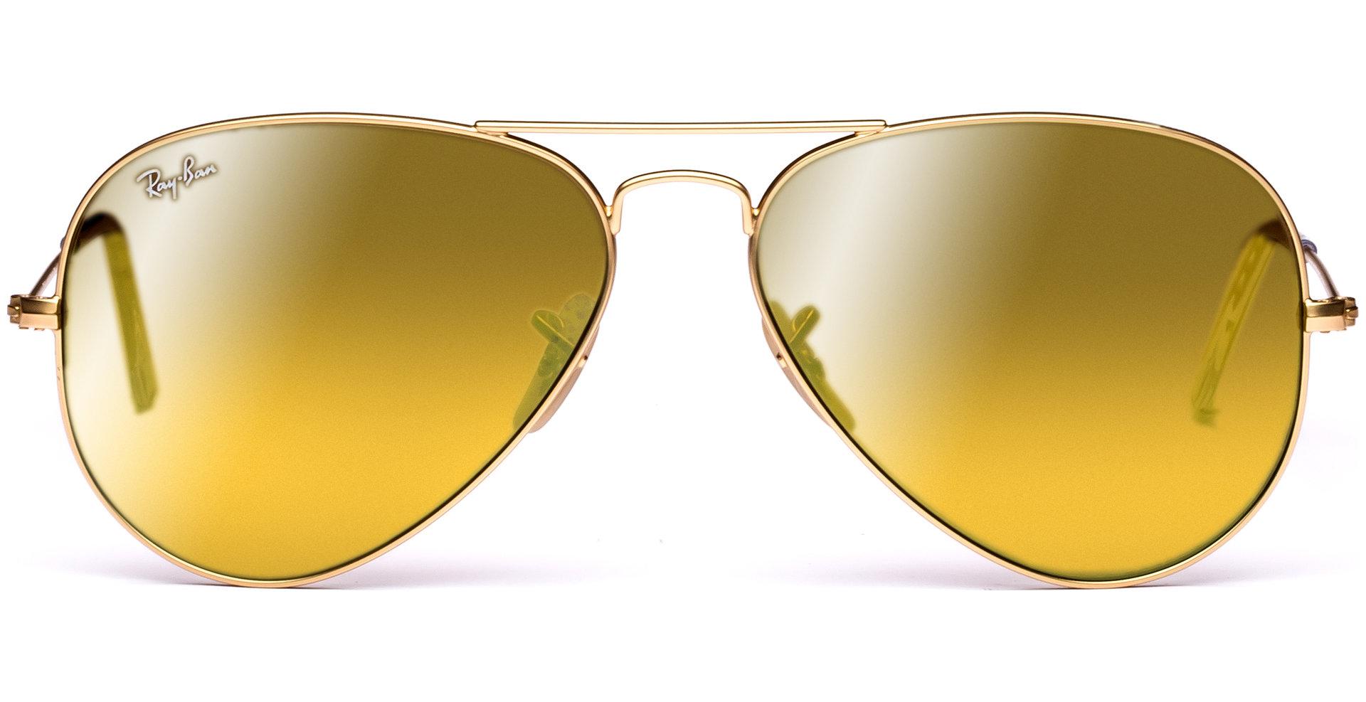 ray ban matte gold aviator  Ray-Ban - Aviator Large Metal RB3025 112/93 5814 Matte Gold/Brown ...
