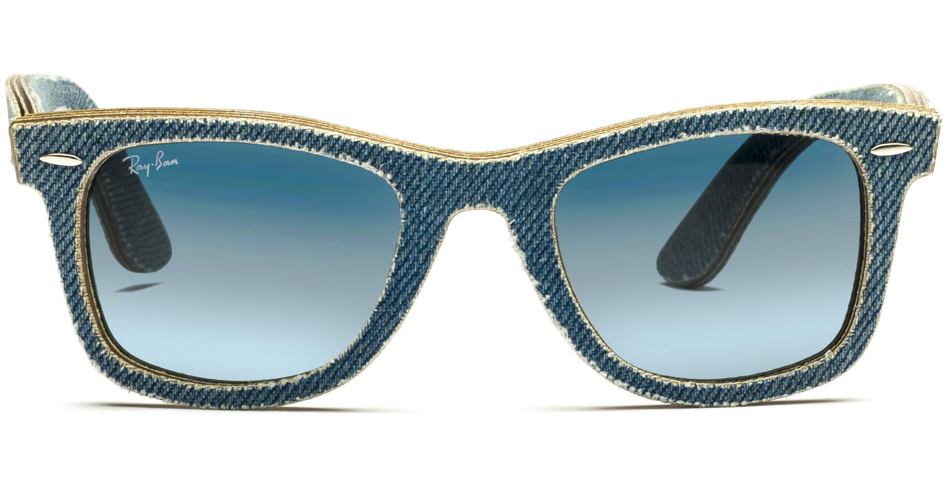 ec2342fa798 Ray-Ban - Denim Wayfarer RB2140 11644M 5022 Jeans Azure Blue Gradient Grey -