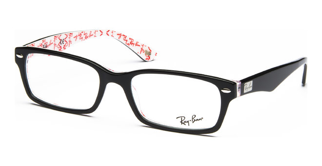 RX5206 5014 5418 Top Black on Texture White von Ray-Ban