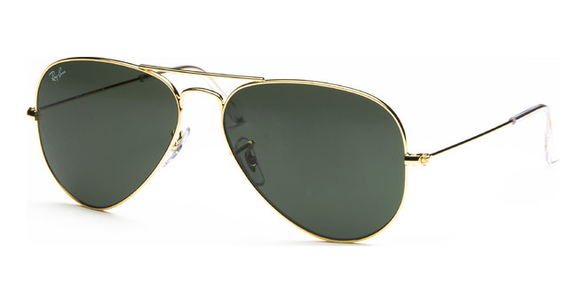 Aviator Large Metal RB3025 L0205 5814 Arista/Crystal Green von Ray-Ban