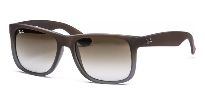 Justin RB4165 854/7Z 5516 Rubber Brown on Grey/Green Grd von Ray-Ban