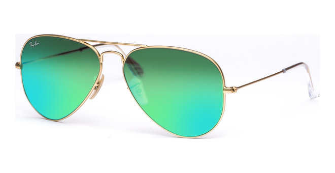 Aviator Large Metal RB3025 112/19 5814 Matte Gold/Crystal Green Mirror Green von Ray-Ban