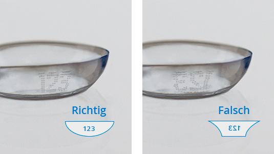 Kontaktlinsen richtig herum einsetzen: 3 Tests | Lensbest
