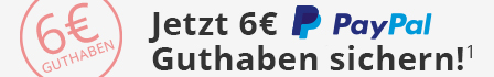 Jetzt 6€ PayPal-Guthaben sichern!
